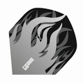 One80 Darts Standard flights Heat Grey Flame