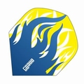 One80 Darts Standard flights Heat Blue Flame