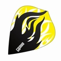 One80 Darts Kite flights Heat Black Flame