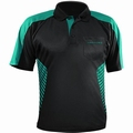 Harrows Vivid Dartshirt Black & Jade