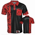 Designa Code 4 Dartshirt Black with Red