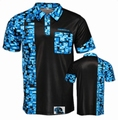 Designa Code 4 Dartshirt Black with Blue