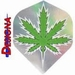 2D Holographic Standaard Green Cannabis