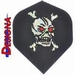 2D Holographic Standaard Red Eye Skull