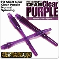 Cosmo Fit Shaft Gear Normal Spinning Clear Purple