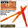 Cosmo Fit Shaft Gear Normal Spinning Clear Orange