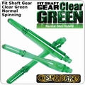 Cosmo Fit Shaft Gear Normal Spinning Clear Green