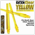 Cosmo Fit Shaft Gear Normal Spinning Clear Yellow